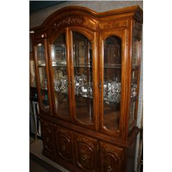 2 PIECE ILLUMINATED DISPLAY CABINET