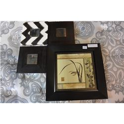 3 DECORATIVE MIRRORS & PICTURE