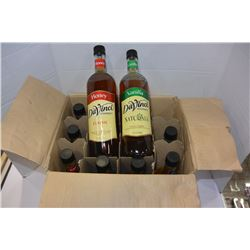 BOX OF DAVINCI CLASSIC CANE SUGAR SYRRUP