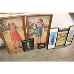 LOT OF FRAMED PICTURES