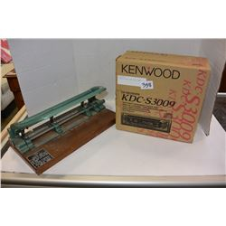KENWOOD RADIO AND HOLE PUNCH