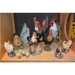 LOT OF ROOSTER FIGURES