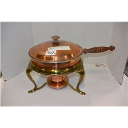 LOT OF BRASS & COPPER FOOD WARMERS