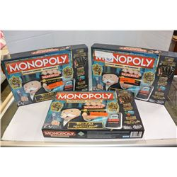 3 MONOPOLY GAMES