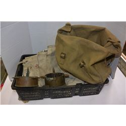 LOT OF BANK BAGS & MILITARY BAG ETC