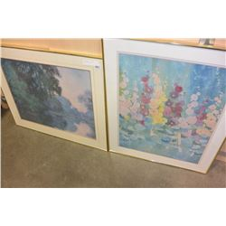 2 LARGE FRAMED PRINTS