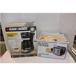 B & D TOASTER & COFFEE MAKER
