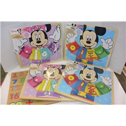 LOT OF DISNEY KIDS SKILL BOARDS