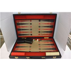 CASED BACKGAMMON BOARD