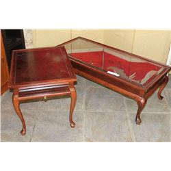 MAHOGANY QUEEN ANNE COFFEE AND ENDTABLE