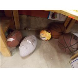 BALL - 2 BASKET BALLS  & 2 FOOT BALLS = 5 PC TTL