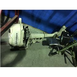 JOHNSON 3 HP OUTBOARD BOAT MOTOR