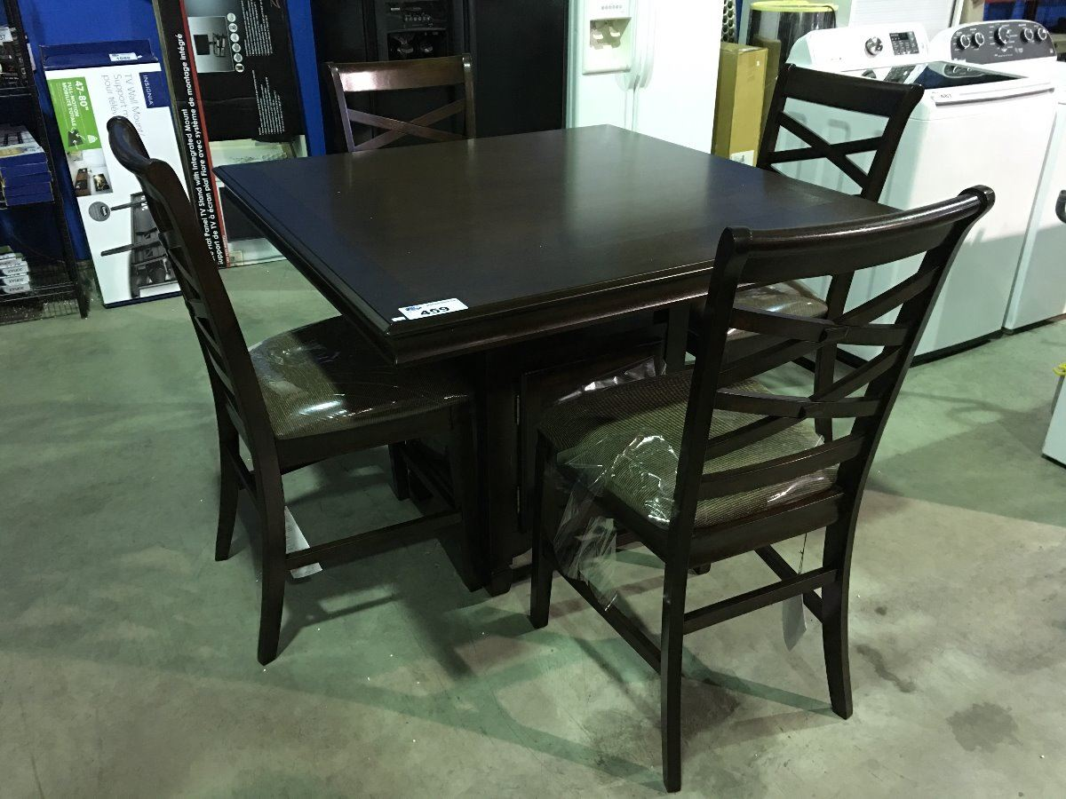 5 PIECE COUNTER HEIGHT DINING TABLE SET WITH PEDESTAL WINE  : 266117501 from www.liveauctionworld.com size 1200 x 900 jpeg 151kB