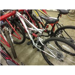 GREY HUFFY ROCK CREEK 18 SPEED FULL SUSPENSION MOUNTAIN BIKE