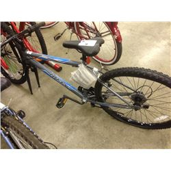 GREY HUFFY GRANITE 18 SPEED MOUNTAIN BIKE (NEEDS ASSEMBLY)
