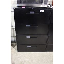 GLOBAL 4 DRAWER LATERAL FILING CABINET