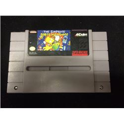 SUPER NINTENDO THE SIMPSONS BARTS NIGHTMARE VIDEO GAME
