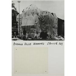 Christo (b. 1935) America House Wrapped