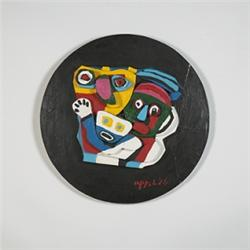 Karel Appel (b. 1921) wall plaque
