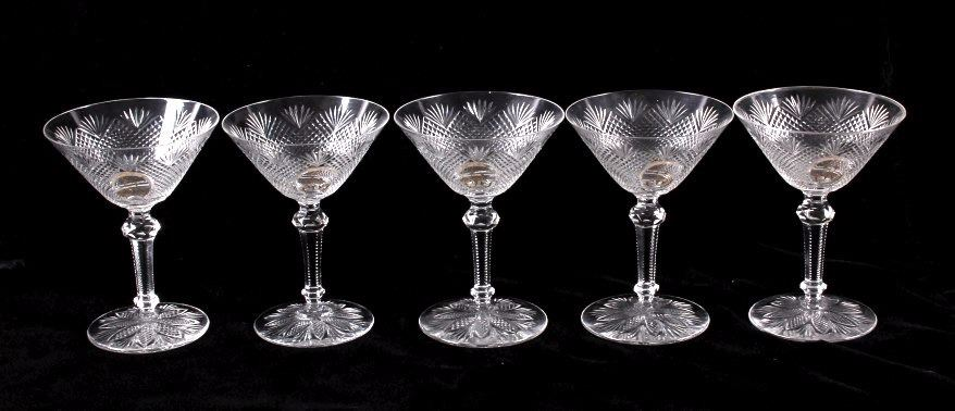 Antique Baccarat Fine Crystal Stemware Collection