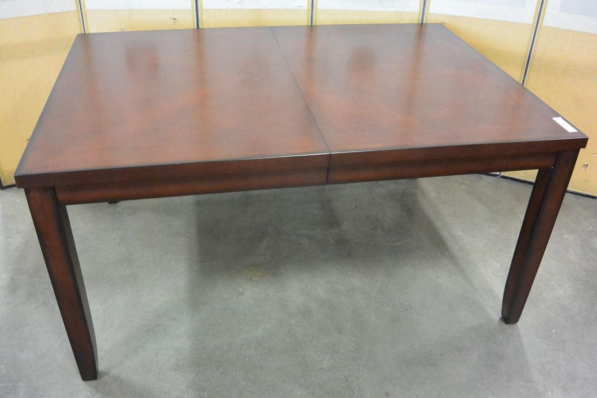 Modern Dining Table W Jacknife Leaf Big Valley Auction