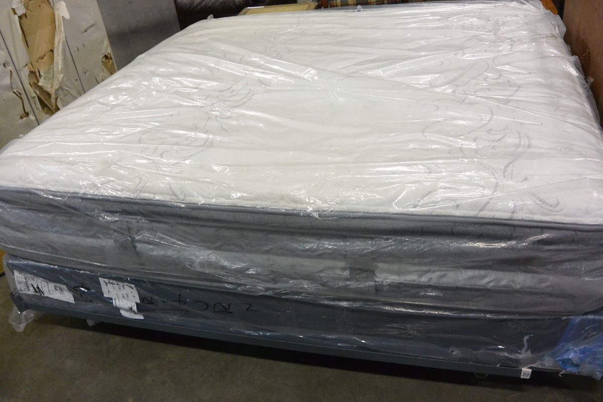 King Size Pillow Top Smart Surface Mattress Big Valley Auction