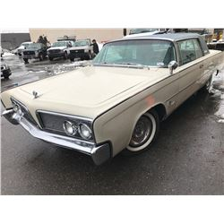 1964 CHRYSLER IMPERIAL CROWN COUPE, 2 DOOR SEDAN, WHITE, VIN # 9243168812