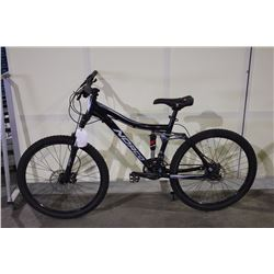 BLACK NORCO FLUID 27 SPEED FULL SUSPENSION MOUNTAIN BIKE WITH FULL DISC BRAKES
