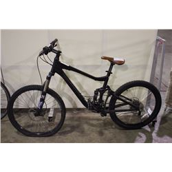 BLACK GIANT 24 SPEED FULL SUSPENSION MOUNTAIN BIKE WITH FULL DISC BRAKES