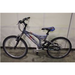 GREY COAST MOUNTAIN THRASHER 24 SPEED FULL SUSPENSION KIDS MOUNTAIN BIKE