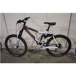 BROWN KONA COILAIR 18 SPEED FULL SUSPENSION MOUNTAIN BIKE WITH FULL DISC BRAKES