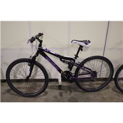 BLACK NAKAMURA SOLANO 18 SPEED FULL SUSPENSION MOUNTAIN BIKE
