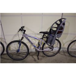 GREY TREK 4100 ALPHA 21 SPEED FRONT SUSPENSION MOUNTAIN BIKE WITH CHILD CARRIER