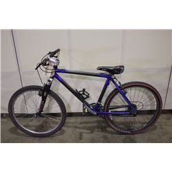 BLUE NO NAME 24 SPEED FRONT SUSPENSION MOUNTAIN BIKE
