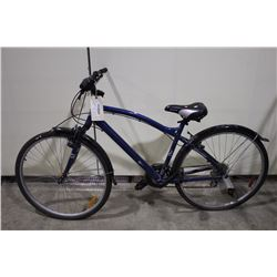 BLUE EVERYDAY 21 SPEED FRONT SUSPENSION HYBRID BIKE
