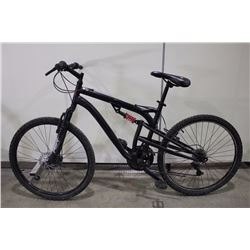 BLACK WICKED 21 SPEED FULL SUSPENSION MOUNTAIN BIKE