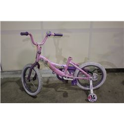 2 BIKES: PINK PRINCESS KIDS NIKE & GREEN ROCKY MOUNTAIN BIKE