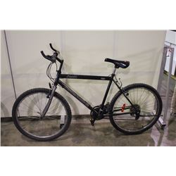 2 BIKES: GREEN JEEP MOUNTAIN BIKE & WHITE BRC FRONT SUSPENSION MOUNTAIN BIKE