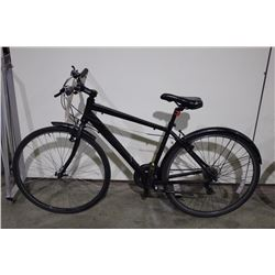 2 BIKES: BLACK NO NAME ROAD BIKE & WHITE MARIN ROAD BIKE