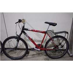 2 BIKES: RED NEXT FRONT SUSPENSION MOUNTAIN BIKE & SILVER SPECIALIZED FRONT SUSPENSION HYBRID BIKE