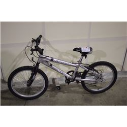 2 BIKES: SILVER XG KIDS BIKE & SILVER HUFFY MOUNTAIN BIKE