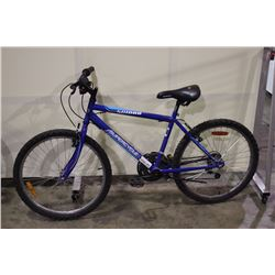 2 BIKES: BLUE SUPERCYCLE MOUNTAIN BIKE & BLUE TELLURIDE MOUNTAIN BIKE