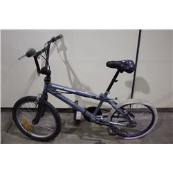2 BIKES: GREY FISHBONE STUNT BIKE & GREEN RALEIGH MOUNTAIN BIKE