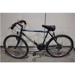 2 BIKES: GREEN PATHFINDER MOUNTAIN BIKE & RED KUWAHARA TOUR BIKE