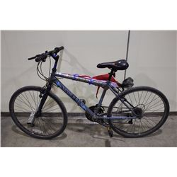2 BIKES: GREY NO NAME HYBRID BIKE & BLACK NO NAME BMX BIKE