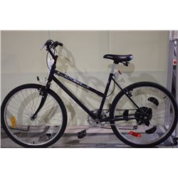 2 BIKES: BLACK AUTOBIKE MOUNTAIN BIKE & RED NISHIKI MOUNTAIN BIKE