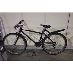 2 BIKES: BLACK NO NAME HYBRID BIKE & GREEN RALEIGH TOUR BIKE