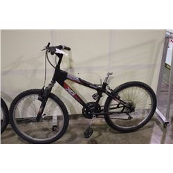 2 BIKES: BLACK VG FRONT SUSPENSION MOUNTAIN BIKE & WHITE NO NAME MOUNTAIN BIKE