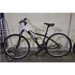 2 BIKES: BROWN SPECIALIZED FRONT SUSPENSION HYBRID BIKE & GREY SUPERCYCLE FRONT SUSPENSION MOUNTAIN