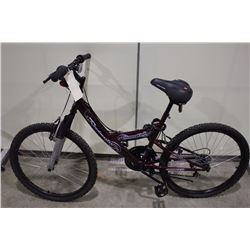 2 BIKES: RED ROADMASTER FRONT SUSPENSION MOUNTAIN BIKE & RED NO NAME FRONT SUSPENSION MOUNTAIN BIKE